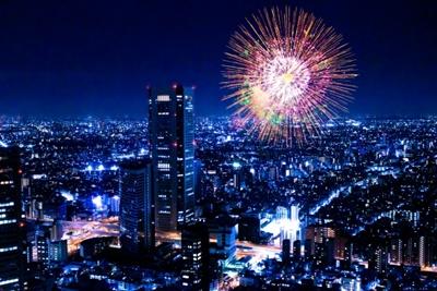 隅田川花火大会を遠くからでも見る